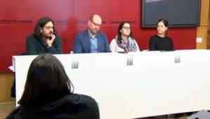 Antón Sánchez, Martiño Noriega, Luca Chao e María Rozas